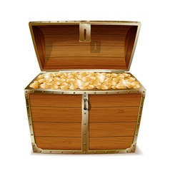Opened treasure chest vector image