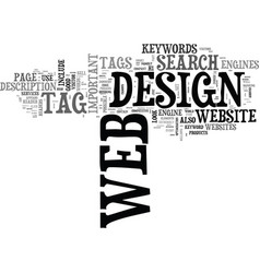 Web design with a difference text word cloud vector