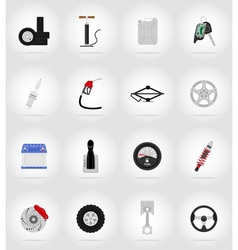 car equipment flat icons 17 vector image vector image