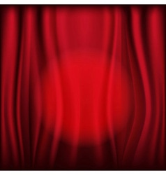 Red curtains with light circle vector
