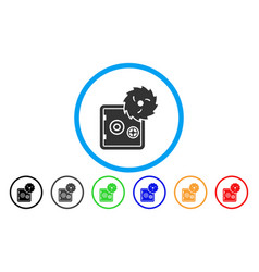 safe hacking theft rounded icon vector image vector image