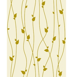 seamless foliage pattern with spring branches vector image vector image