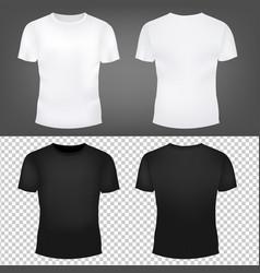 T-shirt template set vector