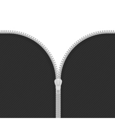 Zip on white background vector image