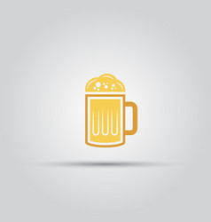 a glass of beer isolated colored icon vector image vector image