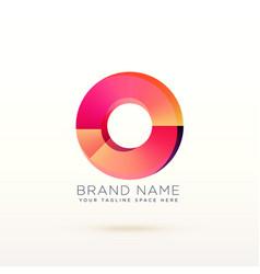 abstract circle shiny logo concept design vector image