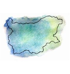 Bulgaria watercolor map vector image vector image