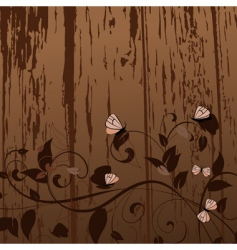 grunge pattern with butterflies vector image