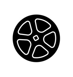 shutter pipe icon black sign vector image