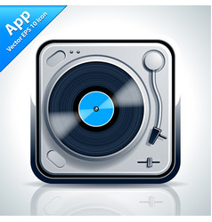 Turntable musical app icon vector image vector image