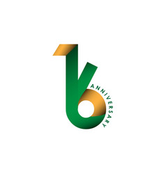 16 year anniversary template design vector