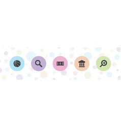 5 view icons vector