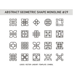 Abstract geometric shape monoline 29 vector
