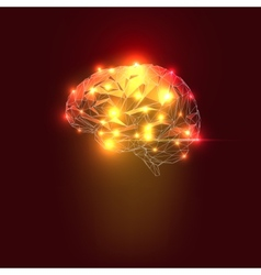 Abstract Human Brain vector