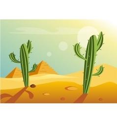 African Desert Landscape vector