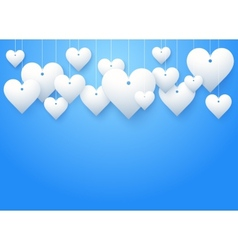 Background beautiful white heart vector