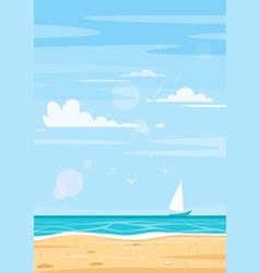 Background sea shore vector