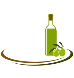 background with olive oil bottle vector image