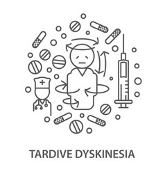 banners for tardive dyskintsia vector image