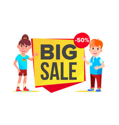 big sale banner school children pupil vector image