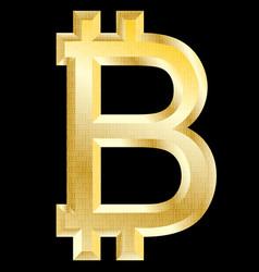 bitcoin golden symbol vector image