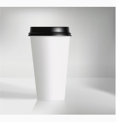 branding coffee cup on grey vector image