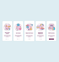 Breastfeeding pros onboarding mobile app page vector