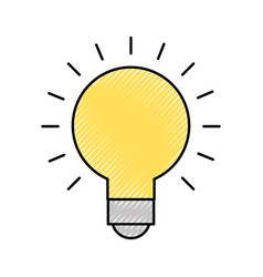 Bulb idea on vector