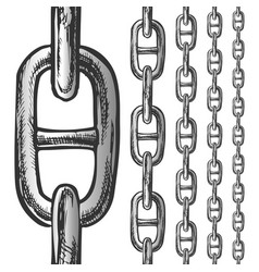 Chain and links seamless pattern in different vector