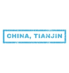 China Tianjin Rubber Stamp vector image