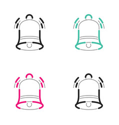 Christmas bell icon neon light vector