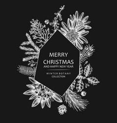 Christmas greeting card or invitation winter vector