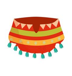cinco de mayo poncho clothes traditional vector image