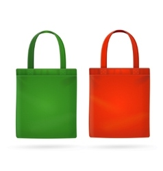 Color fabric cloth bag tote vector