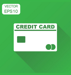 credit card icon business concept banking card vector image