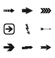 Cursor icons set simple style vector