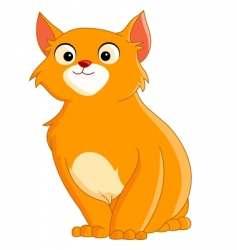 cute ginger cat vector image