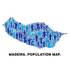 Demographics portugal madeira island map vector