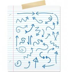 Doodle arrows vector