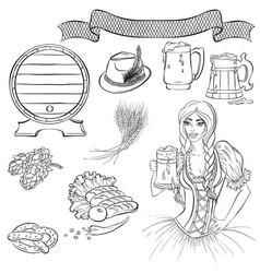 elements oktoberfest vector image