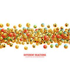 Emoticons conceptual art vector