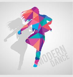expressive girl dancing modern dance vector image