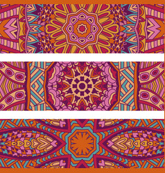festive colorful ethnic abstract banner set vector image