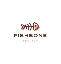 fish bone logo icon vector image