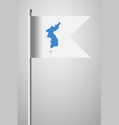 Flag of united korea national flag on flagpole vector