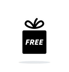 Free gift icon on white background vector