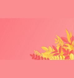fresh realistic background with red orange vector image