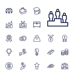 Gold icons vector