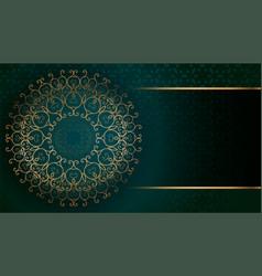 Golden arabesque arabis style islamic pattern vector
