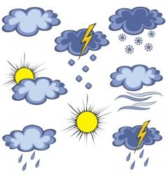 graffito weather icon vector image